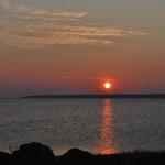 Levee de soleil sur l'ile de Cocagne